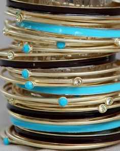 Stacked Bangles are a fabulous look for Spring & Summer!