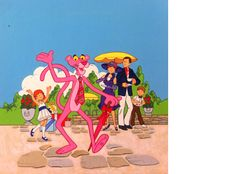 'The Pink Panther and the Fancy Party' Cover illustration. Books Illustrated - Illustrations.