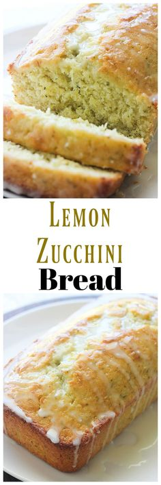 Use up the rest of that zucchini with this Lemon Zucchini Bread. The lemon and zucchini go great together in my quick bread recipe. Lemon Recipes, Baking Recipes, Cake Recipes, Dessert Recipes, Baking Ideas, Loaf Recipes, Blueberry Recipes, Drink Recipes, Sweet Recipes