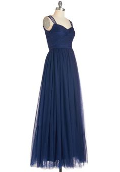 30 Day Return | $79.99 | Endless Enchantment Dress. The ballroom is sparkling and youve got quite a glow yourself as you smile and sway in this navy gown! #blue #prom #wedding #bridesmaid #modcloth