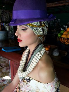 Hat by Fernando Garcia designs Miami Beach Florida