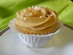 PEANUT BUTTER & JELLY - peanut butter cupcake w/ strawberry jelly filling & peanut butter frosting
