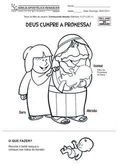 Abraão e a Promessa de Deus - Desenhos e Atividades ~ ÁGUA VIVA KIDS