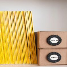 LA BELLA ADHESIVE | Label frames $4  Adhesive label frames. Ideal for storage boxes, files, drawers,cabinets, magazine folders and more. Connects to surface with double side-tape - included. Pack includes 3 units single colour.
