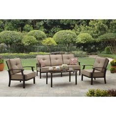 Buy Better Homes and Garden Carter Hills Outdoor Conversation Set, Seats 5 at Walmart.com 2017