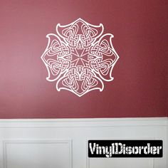 Celtic Ornament Wall Decal - Vinyl Sticker - Car Sticker - Die Cut Sticker - SM001