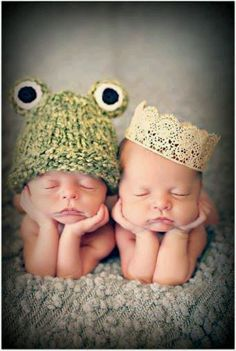 Frog & prince. @ Courtney.  You must find a set if twins to shoot!  I will find you a frog hat!