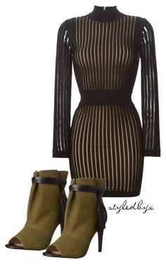 """""""Untitled #66"""" by holly-drage on Polyvore featuring Balmain and French Connection"""