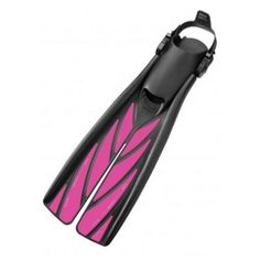 Atomic Split Fins Open Heel Pink -- With the slightest kick, the split blade deflects to form a pair of wings that slice through the water with reduced drag, creating lift in the forward direction to propel you ahead.