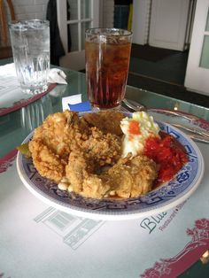 Fried Chicken at Blue Willow Inn in Social Circle, GA