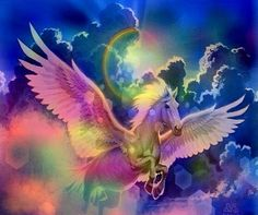 "A burst of color, soaring through the sky...  ""Oh my, it's a Pegasus!!! What a delight to my eyes."""