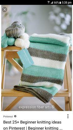 38 Easy Knitting Ideas -Knitted Baby Blanket- DIY Knitting Ideas For Beginners, Cute Kinitting Projects, Knitting Ideas And Patterns, Easy Knitting Crafts, Gifts You Can Knit Baby Knitting Patterns, Knitting Ideas, Simple Knitting Projects, Baby Blanket Knitting Pattern Free, Stitch Patterns, Crochet Patterns, Rug Patterns, Crochet Projects, Easy Knitting