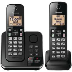 PANASONIC KX-TGC362B 2-Handset Expandable Cordless Phone with Answering System