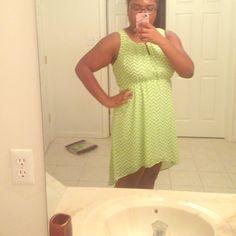 High low light green dress Worn once light green dress Dresses High Low