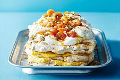 The classic pavlova is the quintessential representation of an Australian summer. It's light, sweet and topped with seasonal fruit. But as Maggie Beer proves, this Aussie classic is best served with dried apricots and apricot curd.