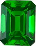 This natural genuine Emerald  cut super GEM Chrome Tourmaline loose gemstone displays beautiful bright emerald vibrant green color of a medium tone and is faceted to the highest professional lapidary standards for maximum brilliance, excellent proportions and symmetry. This Chrome Tourmaline's clarity rating is eye clean plus. NOTE The very facets that create the beautiful sparkle in a gemstone may create optical illusion white or dark/black spots and areas, or uneven coloring when a…