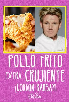 CRUNCHY extra fried chicken with Gordon Ramsay recipe- easy fried chicken recipe Chicken Snacks, Chicken Nugget Recipes, Fried Chicken, Gordon Ramsay, Pollo Kfc, Chef Gordon, Mexican Food Recipes, Love Food, Mozzarella