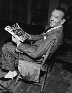 "Fred Astaire- on the set of ""Easter Parade"" 1948"