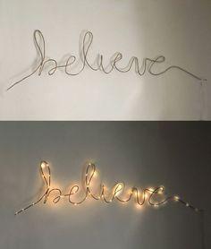 holiday illuminated wire word