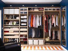 closet organization ♥ ...and where do my husbands clothes go????