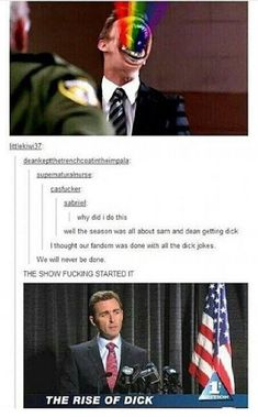 Image result for supernatural dick jokes