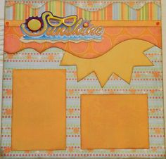 Sunshine  12x12 Premade 2 Page Layout by 2ScrappyGals on Etsy
