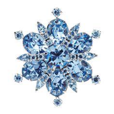 1950s WEISS flower vintage brooch #vintagebrooch #weissbrooch #bluebrooch #weissjewellery #weissjewelry #brooch #1950jewellery €129