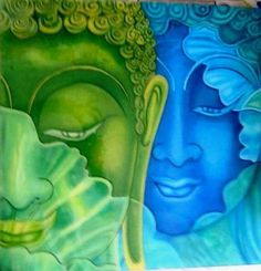 'Buddha' - Oil (enamel) on Glass