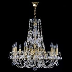 Crystal Chandeliers with Metal Arms