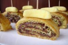 recette de cuisine roulés aux bonbons à la banane et nutella