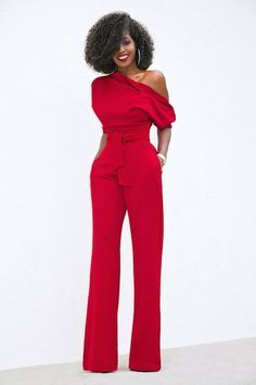 Buttoned Shoulder Dolman Sleeve Jumpsuit (Style Pantry) (With images) Fashion Mode, Look Fashion, Womens Fashion, Fashion Design, Latest Fashion, Chic Outfits, Fashion Outfits, Fashion Clothes, Fashion Tips