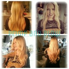 Before and after Dream Catcher Extensions on the lovely Annie.