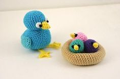 Bird Crochet Pattern, Birds Nest Crochet Pattern, Chicks Crochet Pattern, Bird Amigurumi Pattern