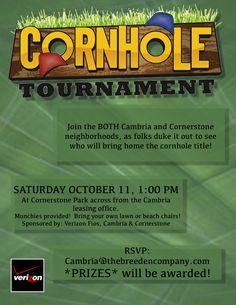 Cornhole Tournament Flyer Design For The Patio On Richmond