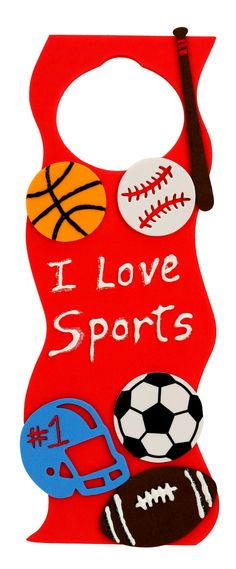 Nicole™ Crafts I Love Sports Door Hanger #kids #crafts