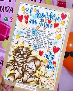 Diy Birthday, Birthday Cards, Best Boyfriend Gifts, Cute Gifts, Diy And Crafts, Graffiti, Hello Kitty, Projects To Try, Presents