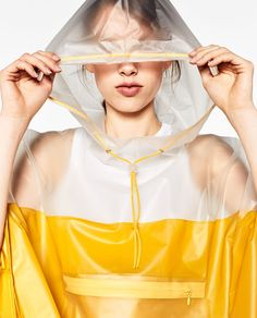 Discover the new ZARA collection online. The latest trends for Woman, Man, Kids and next season's ad campaigns. Gym Wear For Women, Women Wear, Clothes For Women, Zara, Light Jacket, Rain Jacket, Capes & Ponchos, Rain Poncho, Poncho Raincoat