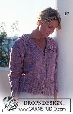 DROPS Jacket in Silke-tweed with zip ~ DROPS Design