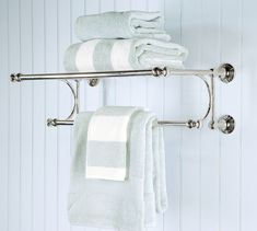 Mercer Train Rack traditional towel bars and hooks Pottery Barn