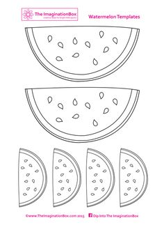 free watermelon bunting template
