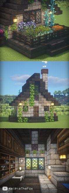 Minecraft Garden, Minecraft House Plans, Minecraft Mansion, Easy Minecraft Houses, Minecraft House Tutorials, Minecraft Room, Minecraft House Designs, Minecraft Tutorial, Minecraft Blueprints