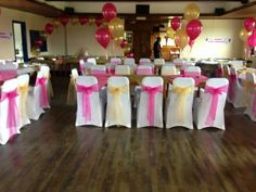 White, Pink and Yellow (lemon) Venue dressing - By Vikki - At Sapphire Bespoke Events, 59 Poulton Road, Wallasey, Wirral