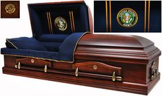 7860 – Army Casket, Solid Poplar Navy Blue Interior, Also Navy, Marines, AF Caskets For Sale, Burial Vaults, Funeral Caskets, Adjustable Beds, Coffin, Marines, Mattress, Hardwood, Couch