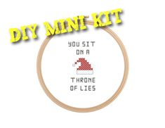 Throne of Lies funny cross stitch DIY Mini Kit