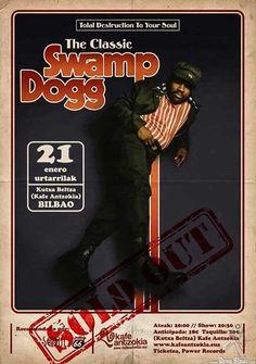 SWAMP DOGG | Kafe Antzoka (Kutxa beltza), Bilbao, 21/I/2017 | Cartel de Swamp Dogg | GALERÍA completa || Full GALLERY: http://denaflows.com/galerias-de-fotos-de-conciertos/s/swamp-dogg/