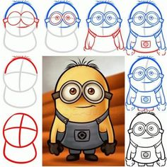 How To Draw a Minion from Despicable Me step by step DIY tutorial instructions / How To Instructions