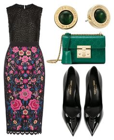 """""""Untitled #59"""" by memowitta on Polyvore featuring Costarellos, Yves Saint Laurent, Gucci and Michael Kors"""