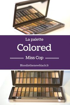 Colored palette : a very good quality dupe to Urban Decay Naked and Smoky