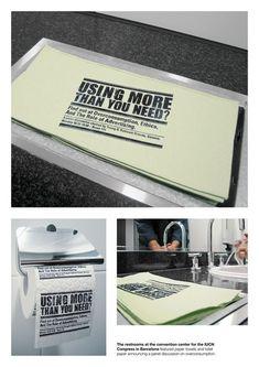 Washroom #Guerilla Marketing