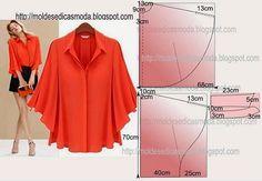 PASSO A PASSO MODELAGEM FÁCIL Corte dois retângulos de tecido com a altura e largura que pretende. Dobre ao meio o retângulo das costas. Desenhe o decote,